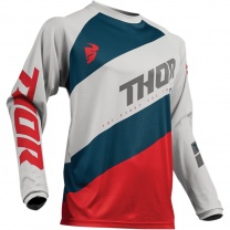 Thor Dres SECTOR SHEAR LIGHT GRAY/RED JERSEY (2019)