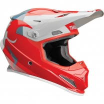 Thor Prilba SECTOR SHEAR RED/LIGHT GRAY HELMET (2019)